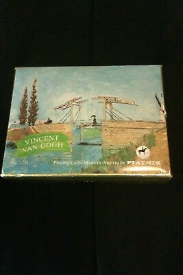 Vintage Sealed Mint double deck PIATNIK Austrian Playing Cards.VINCENT VAN GOGH.