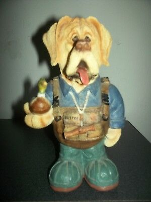 Ducks Unlimited 2007/2008 Whimsical Hunter Buster Yellow Lab Figure Euc