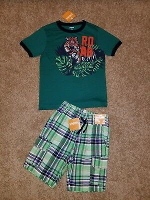 Gymboree Boy Cape Cool Shirt Shorts lot Spring Summer size 5 5T S NWT