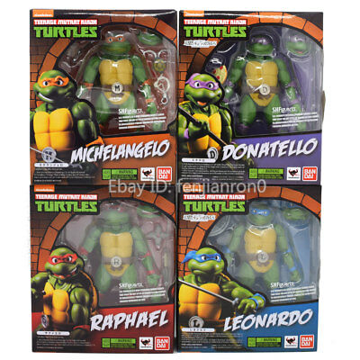 6'' SHF Teenage Mutant Ninja Turtles TMNT Action Figure 4pcs set NIB CHINA VER.