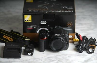 Nikon D5500 24.2MP Digital SLR Camera - Black (Body Only) With accessories