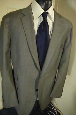 Suitsupply Super 130's Size 48R Gray 2 Button Sportcoat W/dual Vents