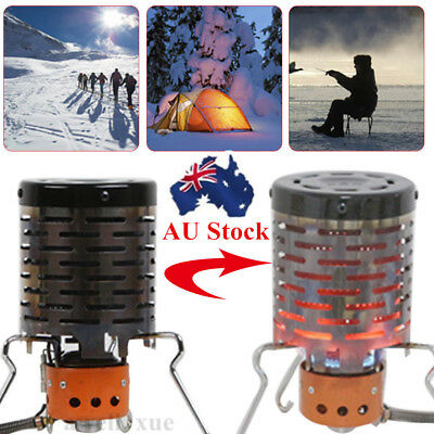Portable Camping Tent Heater Cap Butane Gas Stove Warmer Heating Cover Outdoors