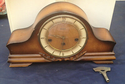 antique westminster chimes hermle german mantle clock working perfect
