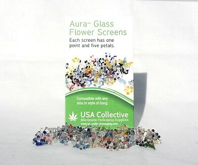 225-Daisy Pyrex Glass Screens Smoking Pipe Filter Assorted Colors Sc1001