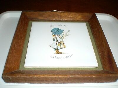 Holly Hobbie Collection 155Mm Wall Plaque Blue Girl
