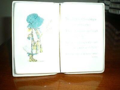 Holly Hobbie Collection  Planter Book Like Holder With Gold Rim