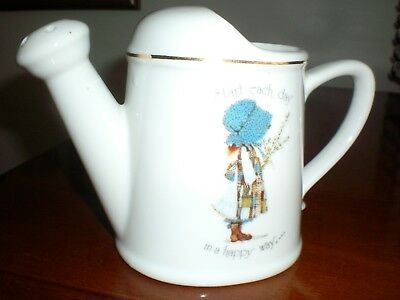 Holly Hobbie Collection  Porcelain Watering Can With Gold Rim