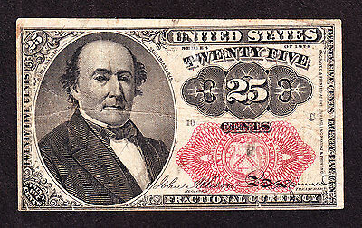 US 25c Fractional Currency 5th Issue Pos 10 C FR 1309 VF
