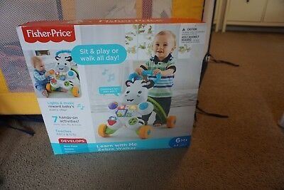 Fisher Price Learn to walk with me zebra walker - Excellent condition As New
