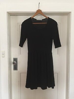 Viktoria + Woods Black Wool Dress Waisted Fit Flare Skirt & And Size 3