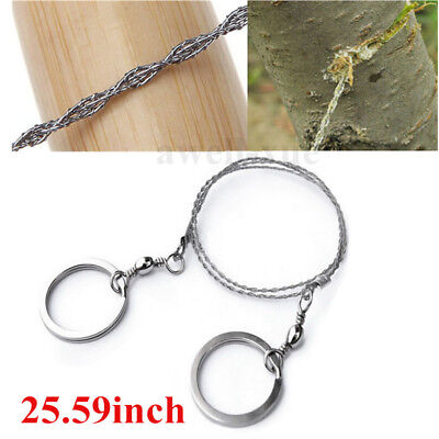 Stainless Steel Ring Wire Saw Rope for Hiking Camping Outdoor Survival Emergency