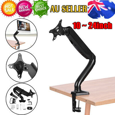 New Fully Adjustable Single LCD Monitor Arm Stand Bracket Swivel Gas Spring AU