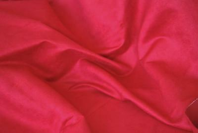 Luxury Faux Suede Suedette Fabric Material 225g - HOT PINK
