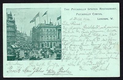 AK LONDON 1904, Piccadilly Spaten Beer Restaurant, Piccadilly Circus