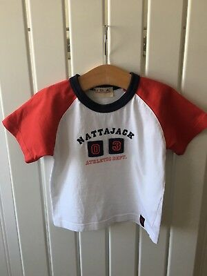 Baby Boy's Clothes 18-24 months - Cute Red White And Blue Top /T-Shirt 🚌