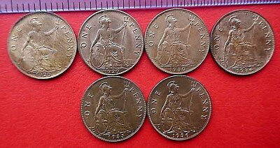 British - 1911 to 1936 George V  Penny - Extra Fine to BU - Choose your Date