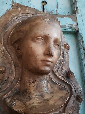 Great, Antique French bust mold ,wall ornament,lady ,head,architectural ,history