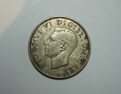 1938 Great Britain Two Shillings Silver Coin Nice No Reserve