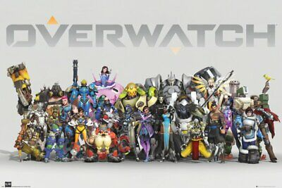 Overwatch - Gaming Poster / Print (Characters / Anniversary Line Up)