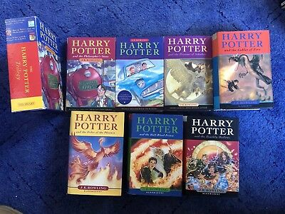 Harry Potter Hardback 1-7 Set Original Covers