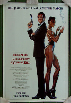 A View to Kill 1985 Original Movie Poster Advance 27x41 New Rolled