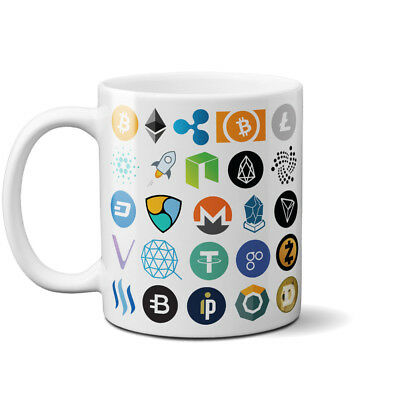 List of Cryptocurrency Mug Coffee Crypto Cup BTC Ethereum Bit coin Birthday Gift