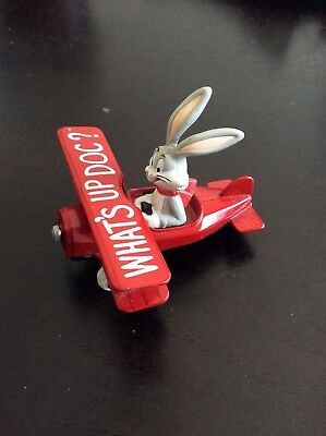 LOONEY TUNES 1988 Bugs Bunny WHAT'S UP DOC? Diecast Airplane Made in U.S.A.