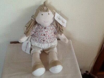 Mamas And Papas Once Upon A Time Berry Large Rag Doll Soft Hug Toy Dolly CWT