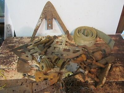 Lot Old Rusty Parts Tools Gears RR Spikes Chain Iron Steel Steampunk Scrap decor