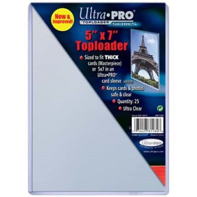 25 Ultra Pro 5x7 Toploaders Top Loaders Postcard Photo Holders Storage 5 x 7 New