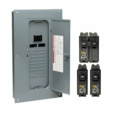 Square D 100-Amp Main Breaker Load Center Electrical Panel 40-Circuit 20-Space
