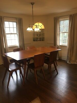 Mid-Century Modern Expandable Dining Table and Chairs