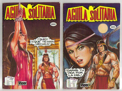 Lot Of 12 Aguila Solitaria Spanish Comic Books Published From 1976-1983