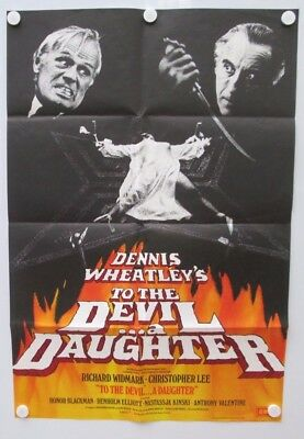 To The Devil A Daughter Christopher Lee 1976 UK One Sheet Horror Film Poster