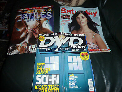 3 Dr Who magazines, Battles in Time issue 3, DVD Review, Saturday.
