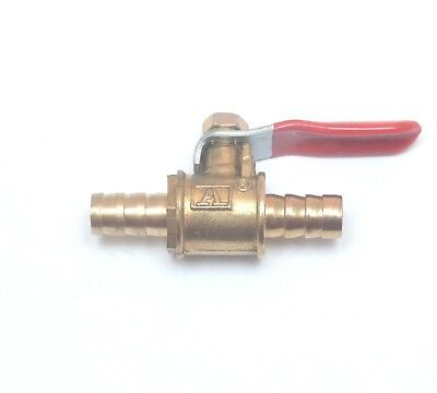 8mm 5/16in Hose ID barbed Ball Valve inline shut off fuel air water oil