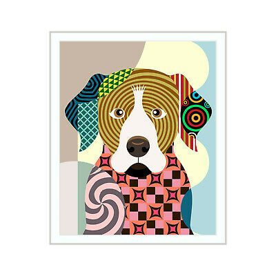 Art Print Rottweiler Dog Poster Painting Puppy Pet Portrait Home Decor 8x10 NEW