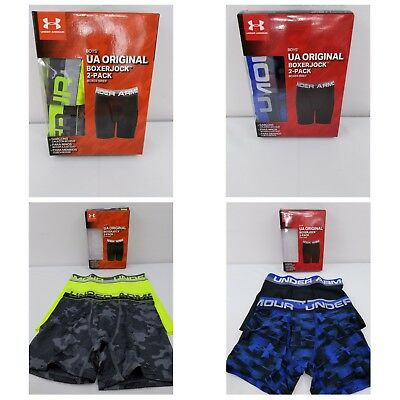 Under Armour Youth Boy's Original 2 pack Boxerjock 1319169 & 1319171 Multiple