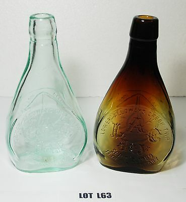 Lower Alloways Creek LAG Day 1988 NJ Anniversary Bottles Brown Clear Glass  L63