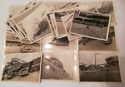 Wwii Navy Vintage Original Military Photos Lot Of 20 Ship World War 2 Sailor