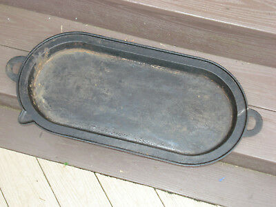 Large Antique Cast Iron No 6 Cooking Griddle Marked F T C 6
