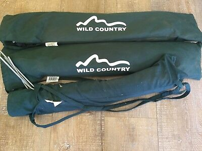 3 Camping Cots, adult size, Wild Country Green