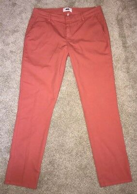 PAIGE jeans BAXTER CHINO Midrise Tailored Style Cropped Trouser Women Sz 29 NEW