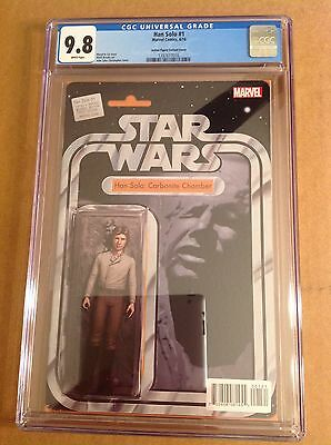 CGC 9.8 Han Solo #1 Action Figure Variant Cover Han in Carbonite Star Wars