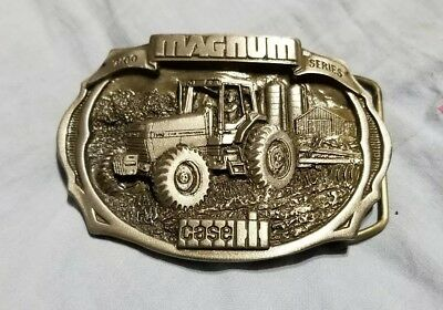 JI CASE IH 7100 Magnum Series Tractor Belt Buckle Pewter 1987 Limited Edition