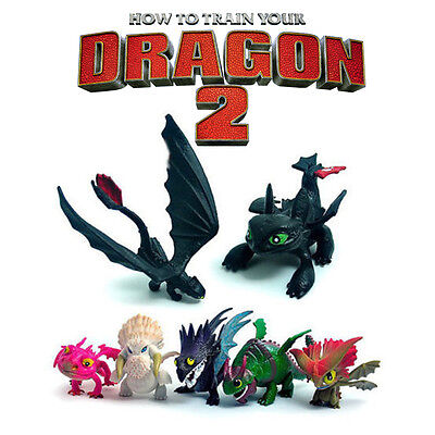 8pcsset how to train your dragon 2 hiccup astrid action figures how to train your dragon 2 toothless 7 pcs action figure cute doll toys kid gift ccuart Image collections