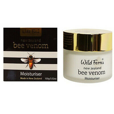 New Zealand Parrs Wild Ferns Bee Venom Moisturiser 100g Anti aging Free Shipping