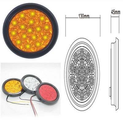 New 16 LEDs Round Yellow Indicator Stop Reverse Rear Tail Lights for Car Truck