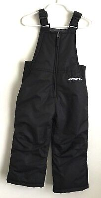Arctix Boys Toddler Insulated Snow Bibs 3T Overalls Ski Winter Black